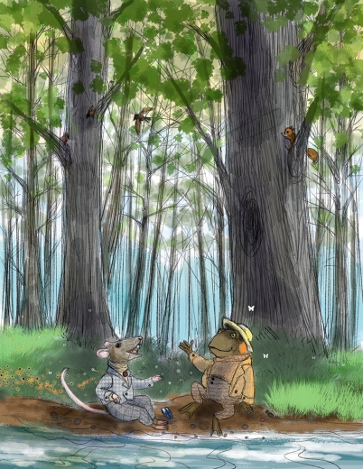 """Homage to """"Wind in the Willows"""""""